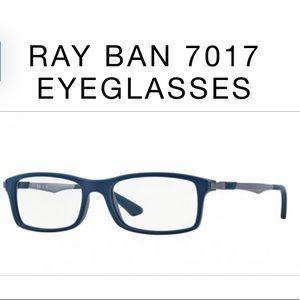 Ray Ban 7017 Blue and Gray Unisex Eyeglasses